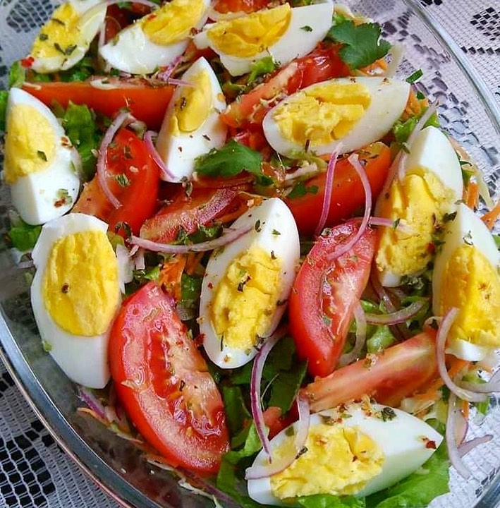 Classic Egg and Tomato salad
